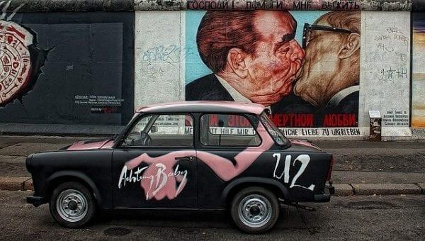 Visitando el Muro de Berlín